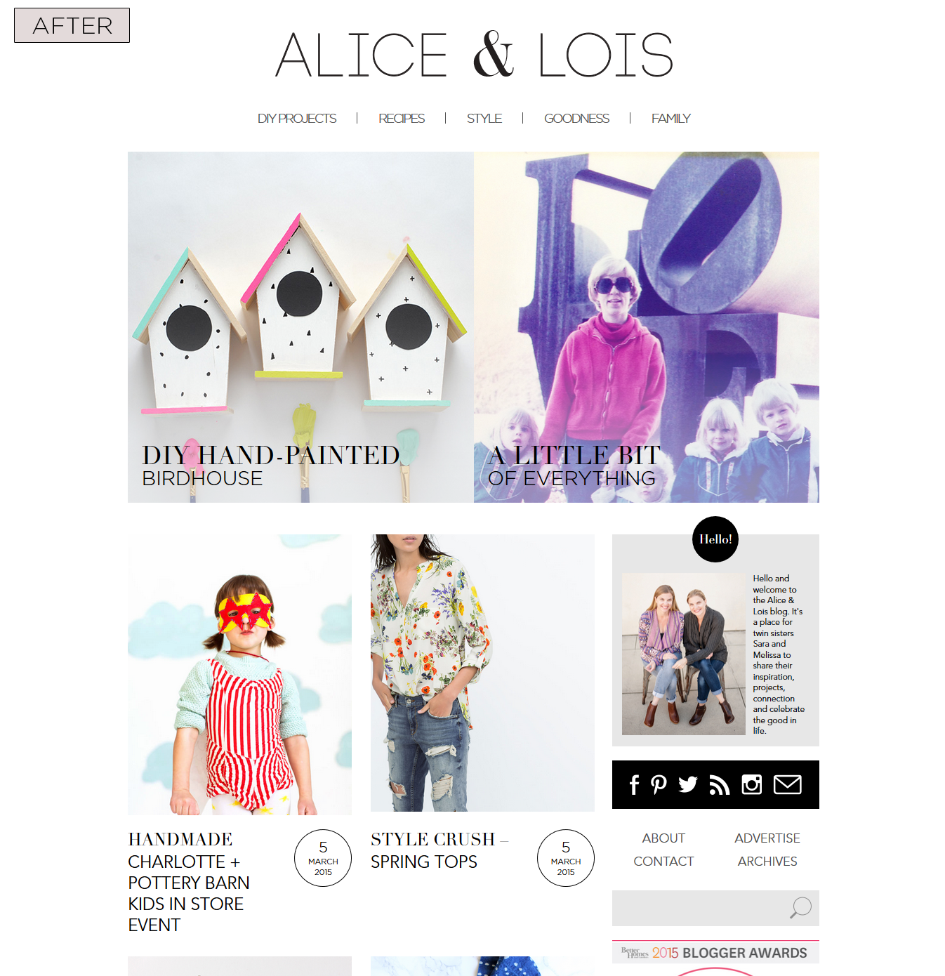 Alice & Lois Homepage - After